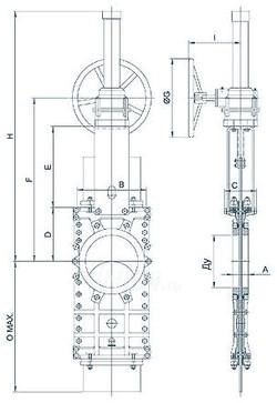 Шиберный затвор с электроприводом ORBINOX TL