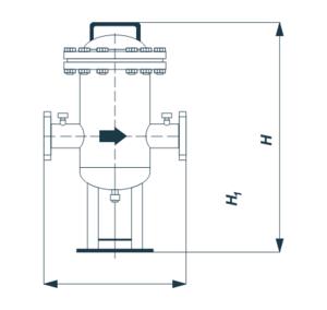 Фильтр газовый ФГ-ПР Ду 500 Ру 16
