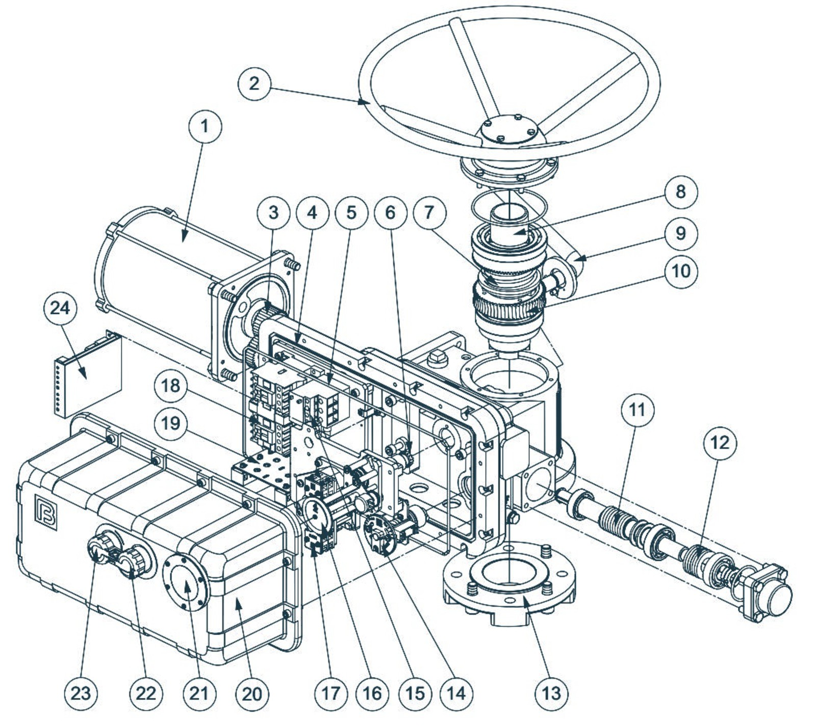 Электропривод ГЗ-А.150 КС
