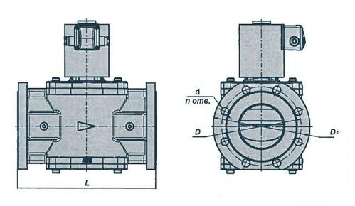 Электромагнитные клапаны DN 65, 80, 10