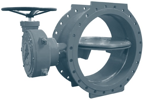 Затвор дисковый поворотный фланцевый ДУ 2400 (DN 2400)